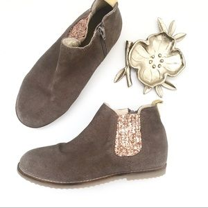 Other - ** Mini Boden ** big girls suede glitter booties